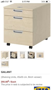 IKEA Wood 3-drawer chest Broadlands, 20148