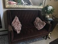 black leather tufted sofa chair Baltimore, 21214