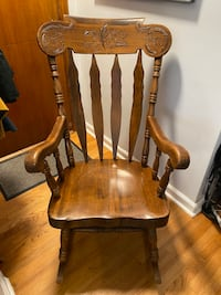 Beautiful vintage wooden rocking chair