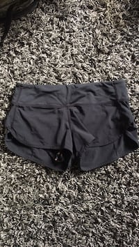 Size 2 lululemon black shorts
