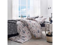 white and blue floral bed sheet set London