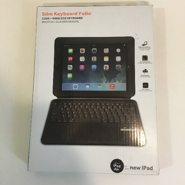 Slim Keyboard Folio Case for New iPad/iPad Air  3