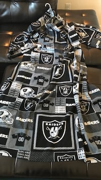 Raiders snuggie blanket