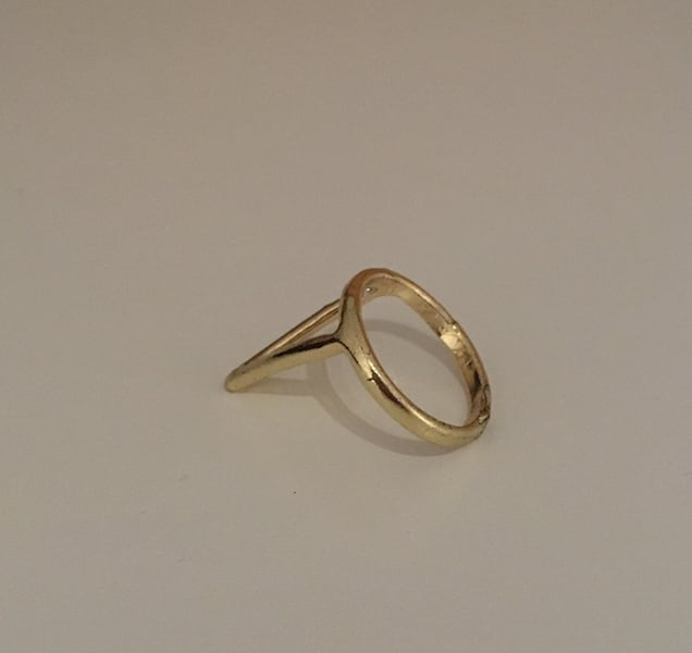 Gold ring with triangle 17f0be36-fa5d-4efc-a819-1000ac860dcd