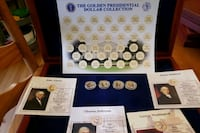 Morgan mint presidential coin display case & 4 coins Centreville, 20120