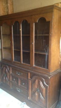 brown wooden framed glass display cabinet Barrie, L4M 6G1