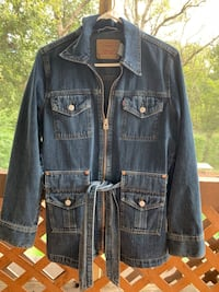 Vintage Levi Strauss Belted Denim Bush Jacket   Size M Manassas, 20109