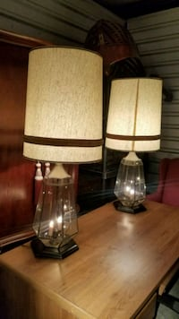 two white-and-brown table lamps Huntsville, 35803