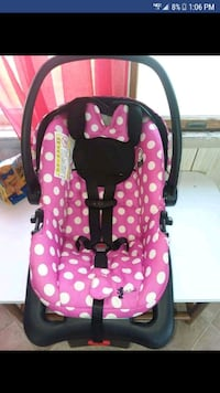 baby's pink and black polka dot car seat Ridgely, 21660