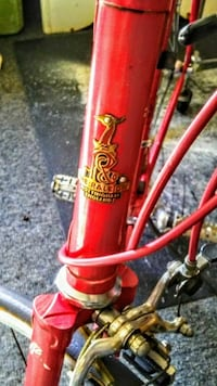 red bicycle fork