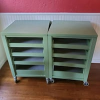 (2) Sturdy Rolling carts  Flower Mound