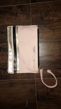 Baby pink & black Victoria secret wrist pouch 8/10 condition a little smudges never really used it Silver Spring, 20904