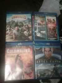 four assorted Blu-Ray DVD cases New York, 10035
