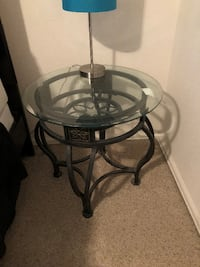 2 wrought iron end tables Thornton