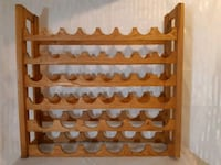 Homemade, solid wood, wine rack. Mississauga, L5N 6T9