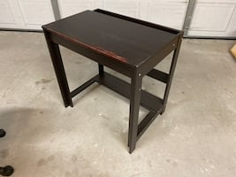 Small computer desk with task chair