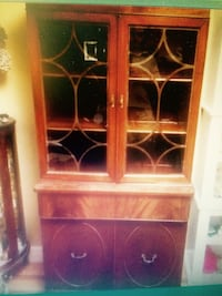 brown wooden cabinet Duncan, V9L 2W1