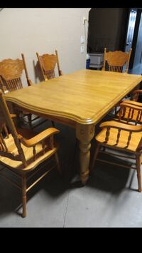 Brand New Solid Oak 7 Piece Dining Set 3158 km