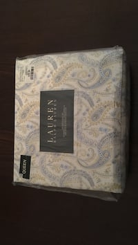 white, blue, and brown Ralph Lauren paisley queen bedspread set Toronto, M4A 0A3