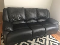 black leather 3-seat sofa Silver Spring, 20910