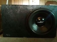 18 Skar Audio in box with a Zeus Hifonics amp   Sterling Heights, 48311
