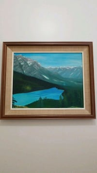 brown wooden framed painting  Coquitlam, V3K 4P7