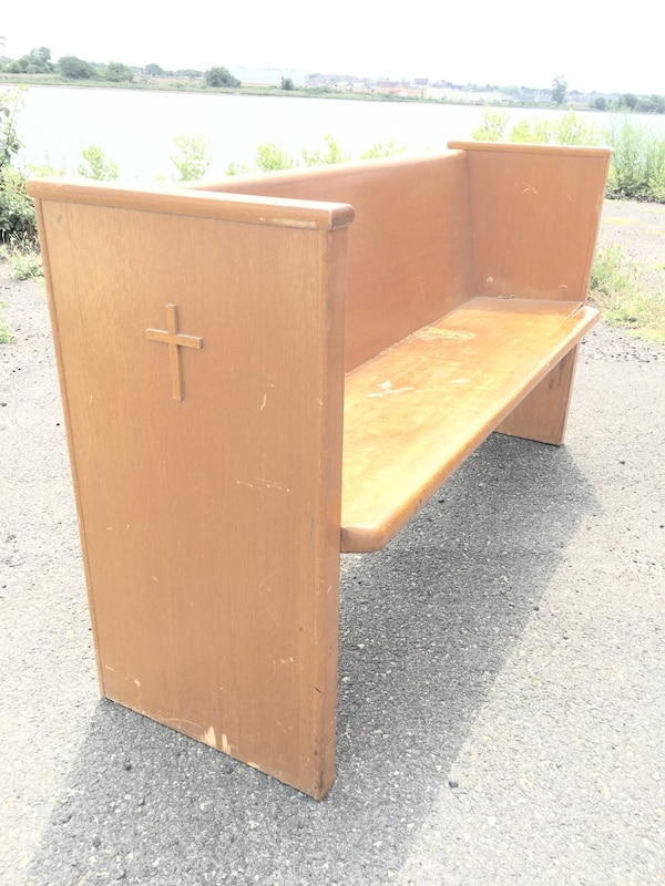 Superb Church Pew Bench Wooden Vintage From A Queens Convent Cjindustries Chair Design For Home Cjindustriesco