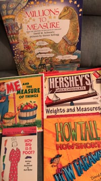 New Measurement Books-Millions to Measure, Me & the Measure of Things,  Hershey's Weights & Measures, How Big is a Foot?, &  How Tall, How Short, How Faraway Columbia, 21045