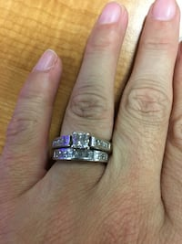 silver and diamond solitaire ring Fort Worth, 76109