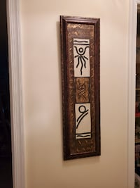 Black, gold and cream wall art - price negotiable! MCLEAN