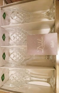 Crystal  Platinum Goblets, Set of 4/ New in box Austin, 78728