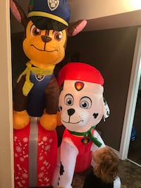 7ft brand new chase and Marshall inflatable
