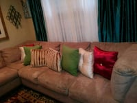 Tan sectional gently used College Park, 20740