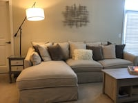Gray fabric sectional sofa with throw pillows Falls Church, 22042
