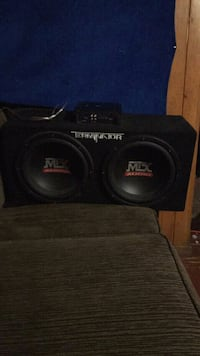 black MTX Audio subwoofer speaker Toledo