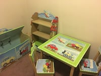 Children furniture set bookcase, table with chairs and toy chest Bethesda, 20815