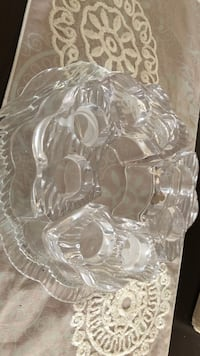 clear cut glass punch bowl set Surrey, V3X 3K9