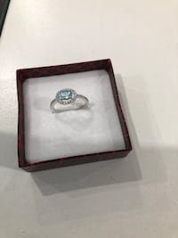 Sterling silver/blue topaz/CZ ring Keswick, L4P 3P2