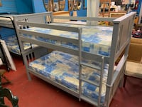 white and blue wooden bunk bed Camden, 08104