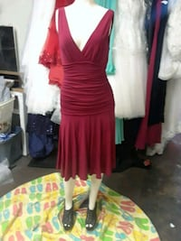 women's red sleeveless dress Commerce, 90040