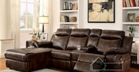 Reclining Sectional Sofa with Chaise Lounge Charlotte, 28216