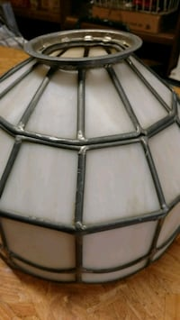 White and silver stained glass chandelier Lakeland, 33809