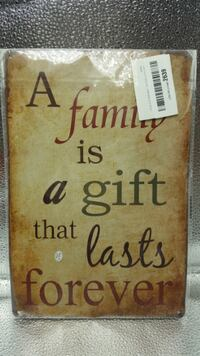 ERLOOD A Family is a Gift that Lasts Forever Wall Décor 20 x 30 cm 2235 mi