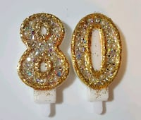 bedazzled number candles
