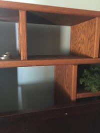 Brown solid Oak Entertainment center  Pensacola, 32526