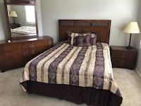 Queen bed set with mattress-frame Gaithersburg, 20878