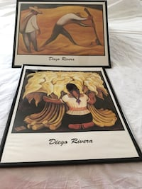 2 Diego Rivera prints and 2 unique wall art pieces