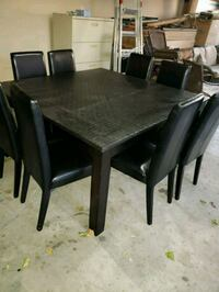 Square 54x54 dining table with 8 chairs  Edmonton