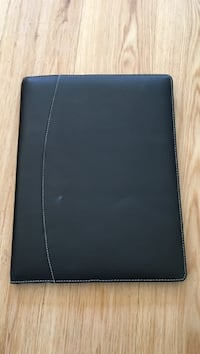 black leather 2-fold wallet