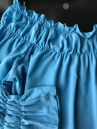 New Baby Blue thyme Maternity Long Sleeve Fashion Top, Size XL